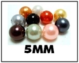Opaque round plastic beads - 5mm