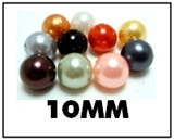 Opaque round plastic beads – 10mm