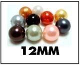 Opaque round plastic beads – 12mm