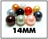 Opaque round plastic beads – 14mm