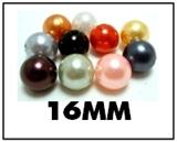 Opaque round plastic beads – 16mm