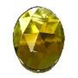 glass jewels oval