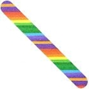 Nail FIles - Colorful Rainbow - fun bright multicolored many colored colors