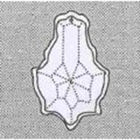 Picture of P46B  63mm Crystal Leaf