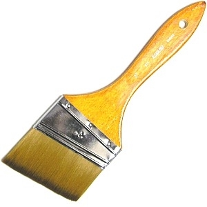 Picture of ART817-3 3in Synthetic Hair Paint Brush. Angled Style