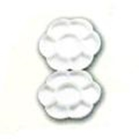 Picture of ART132T  flower type foldable white plastic palette with 14 wells 7in