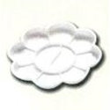 Picture of ART117  flower type plastic palette with 8 wells white 5in