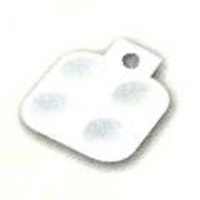 Picture of ART121  white plastic palette with 4 wells 4x3