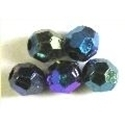 Picture of BD8FR10B  8mm RAINBOW DARK PURPLE faceted shaped plastic beads