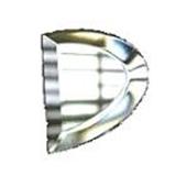 Glass Bevels Side Half Oval