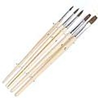 Picture of ART188  pony hair paint brush 5pc set. round style