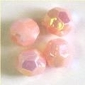 Picture of BD6F4A  6mm LIGHT PINK faceted shaped plastic beads