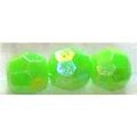 Picture of BD6FR9  6mm rainbow green faceted shaped plastic beads
