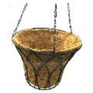 Picture of GARD15  12x9 hanging gardening pot, husk, with triple chain support
