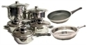 Picture of POT1  chef jean perier cookware: 13 piece stainless steel cookware set