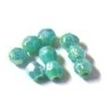 Picture of BD6FR7C  6mm rainbow turquoise faceted shaped plastic beads
