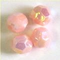 Picture of BD8FR4  8mm RAINBOW PINK faceted shaped plastic beads