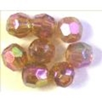 Picture of BD8FR10  8mm RAINBOW LIGHT PURPLE faceted shaped plastic beads