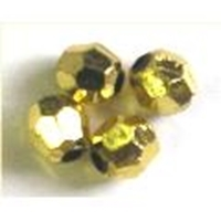 Picture of BD6FM3  6mm gold metallic faceted shaped plastic beads