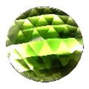 Picture of J03 50mm Faceted GREEN Round