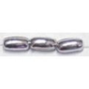 Picture of BD6RCM11  6mm METALLIC SILVER rice shaped bead
