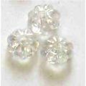 Picture of BD6FL16  6mm clear flower shaped plastic beads