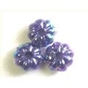 Picture of BD6FL10B  6mm dark purple flower shaped beads