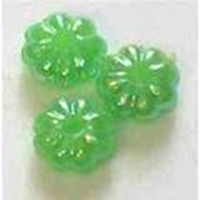 Picture of BD6FL9  6mm green flower shaped plastic beads