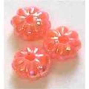 Picture of BD6FL4  6mm pink flower shaped plastic beads