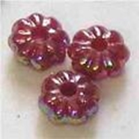 Picture of BD6FL10  6mm purple flower shaped plastic beads