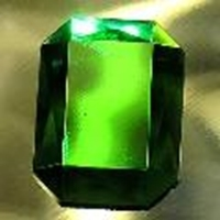 Picture of J32  25mm x 18mm Green octagon
