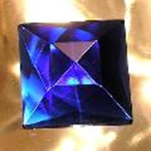 Picture of J75  25mm Blue square OUT OF STOCK