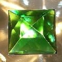 Picture of J74  25mm Green Square OUT OF STOCK