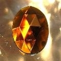 Picture of J52  25mm x 18mm Amber oval