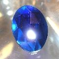 Picture of J54  25mm x 18mm Blue oval