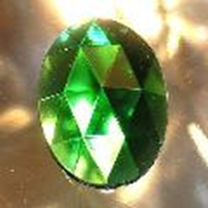 Picture of J53  25mm x 18mm Green oval