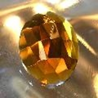 Picture of J45  30mm x 22mm Amber oval