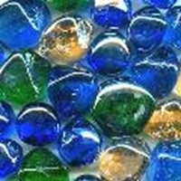 Picture of M74  16MM thick Mixed Shaped Glass Gems In Mixed Colors, Shiny