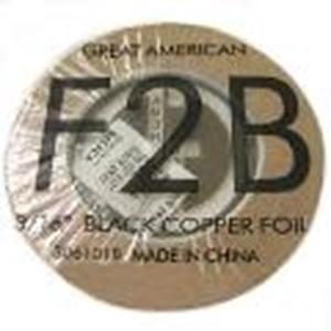 "Picture of FF2B  3/16"" x 100' Black Copper Foil 1.25 mil"