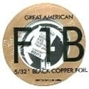 "Picture of FF1B  5/32"" x 100' Black Copper Foil 1.25 mil"