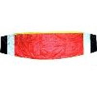 Picture of K184 Parafoil Kite, Red, black, white 10m x 1.5m