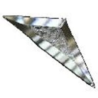 Picture of B47SDG  1/2 of a 4 X 7 Glue Chipped Diamond bevel