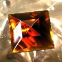 Picture of J59  50mm Amber square OUT OF STOCK