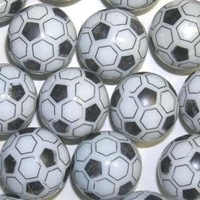 Picture of M350  HANDMADE 25mm set of 2  Soccer Ball Marbles