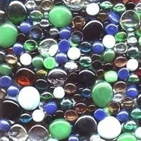 Picture of M70G 30-lb Mixed Glass Gems -- FREE SHIPPING -- $1.45/lb