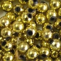 Picture of BD4RM3  4mm METALLIC GOLD round plastic beads