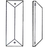 Picture of P23B  63 x 22mm bar with 2 mounting holes