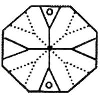 Picture of P1APNK  12mm Pink octagon