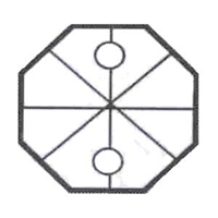 Picture of P1N  32 mm octagon
