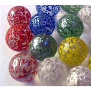 Picture of M152 16MM Clear marble rolled In various colored crushed glass